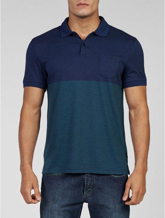 Polo Calvin Klein masculina bicolor bordô em 100% algodão.