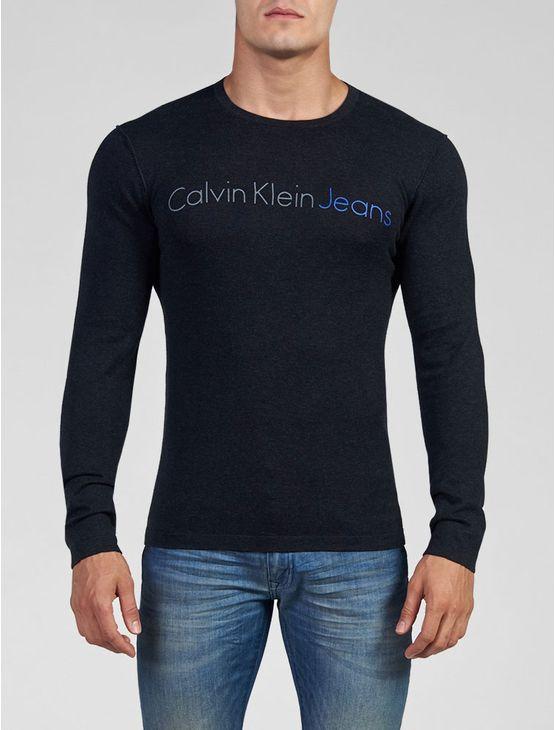 SUETER-CALVIN-KLEIN-JEANS-REMALHADO-PRETO