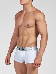 CUECA-CALVIN-KLEIN-UNDERWEAR-LOW-RISE-TRUNK-STEEL-BRANCO
