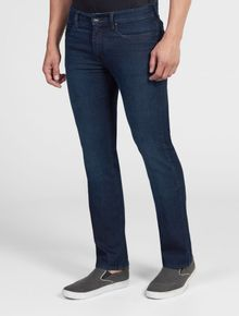 CALCA-CALVIN-KLEIN-JEANS-FIVE-POCKETS-RELAXED-STRAIGHT-AZUL-ESCURO