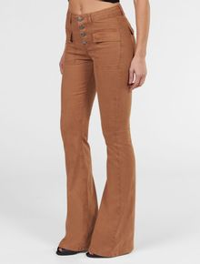 CALCA-COLOR-CALVIN-KLEIN-JEANS-FLARE-HIGH-VISTA-COM-BOTOES-CAMURCA