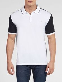 POLO-CALVIN-KLEIN-REGULAR-BICOLOR-BRANCO