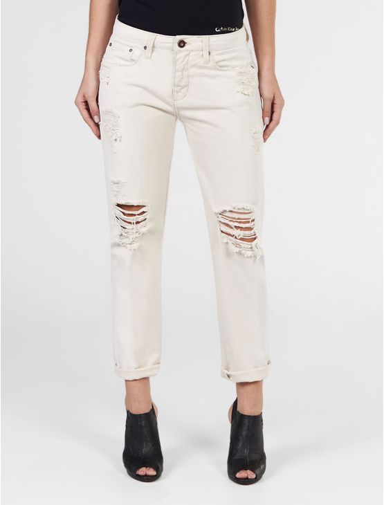 CALCA-COLOR-CALVIN-KLEIN-JEANS-GIRL-FRIEND-NEUTRO-RASGADA-OFF-WHITE