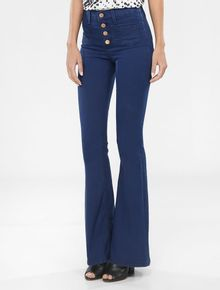 CALCA-CALVIN-KLEIN-JEANS-FIVE-POCKETS-FLARE-HIGH-AZUL-CARBONO