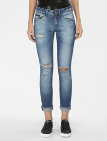 CALCA-CALVIN-KLEIN-JEANS-FIVE-POCKETS-SKINNY-HIGH-AZUL-MEDIO