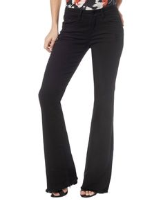 CALCA-COLOR-CALVIN-KLEIN-JEANS-FIVE-POCKETS-FLARE-PRETO