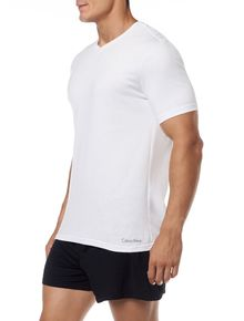 KIT-2-CAMISETAS-CALVIN-KLEIN-UNDERWEAR-DE-COTTON-GOLA-V-BRANCO