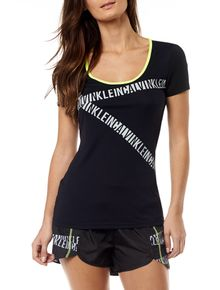 CAMISETA-ATHLETIC-CALVIN-KLEIN-SWIMWEAR-LOGOS-DIAGONAIS-PRETO