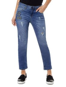 CALCA-CALVIN-KLEIN-JEANS-GIRLFRIEND-COM-PATCHES-PIXOTE-AZUL-MEDIO