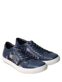 Tenis-Calvin-Klein-Jeans-Cano-Baixo-Acqua-Azul-Marinho