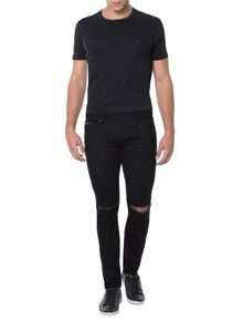 CALCA-CALVIN-KLEIN-JEANS-FIVE-POCKETS-PRETO