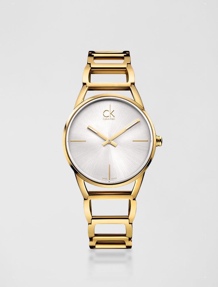 f4db7ead08a Relógio Calvin Klein Pulseira De Aço Dourado - Calvin Klein