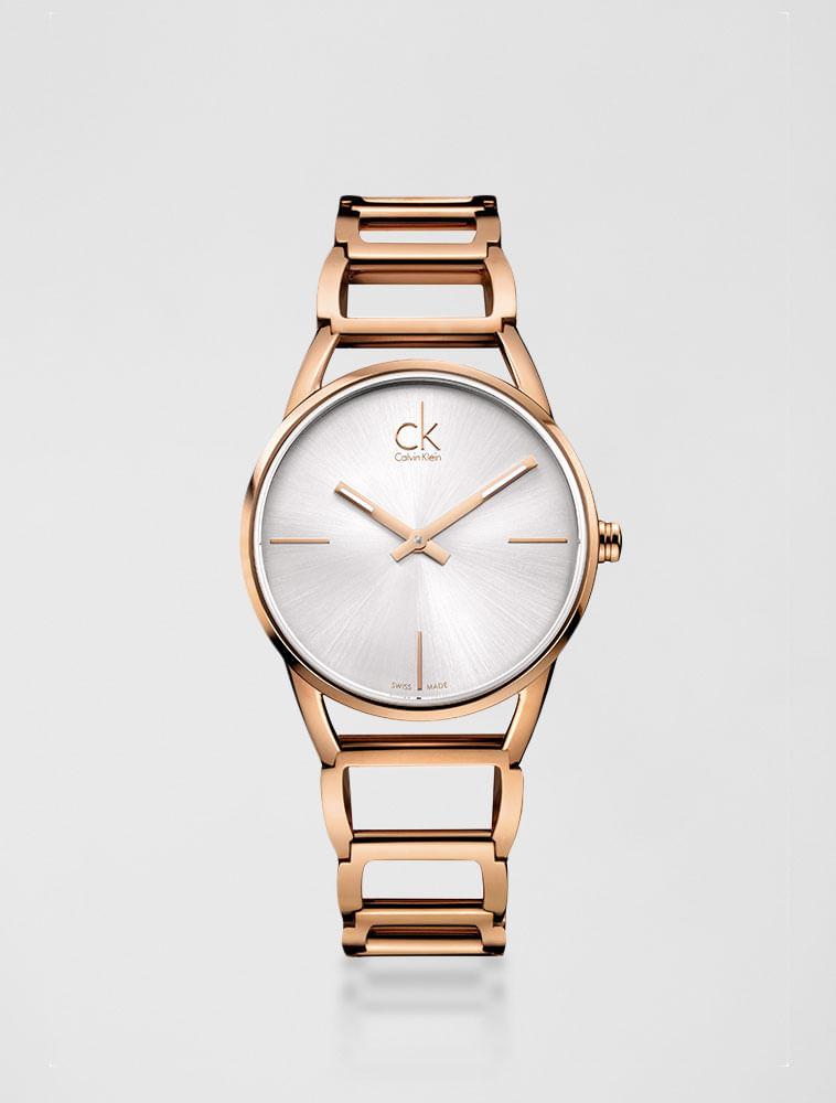 530fff4b30e Relógio Calvin Klein Pulseira De Aço Champanhe - Calvin Klein