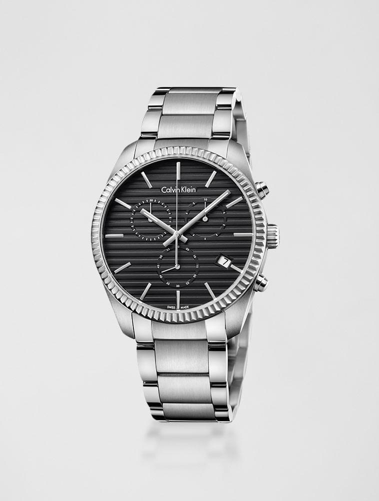 8790eb9f060 Relógio Calvin Klein Pulseira De Aço Chrono Prata - Calvin Klein