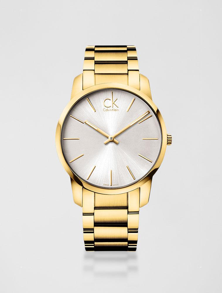 d54d658776b Relógio Calvin Klein Pulseira De Aço Dourado - Calvin Klein