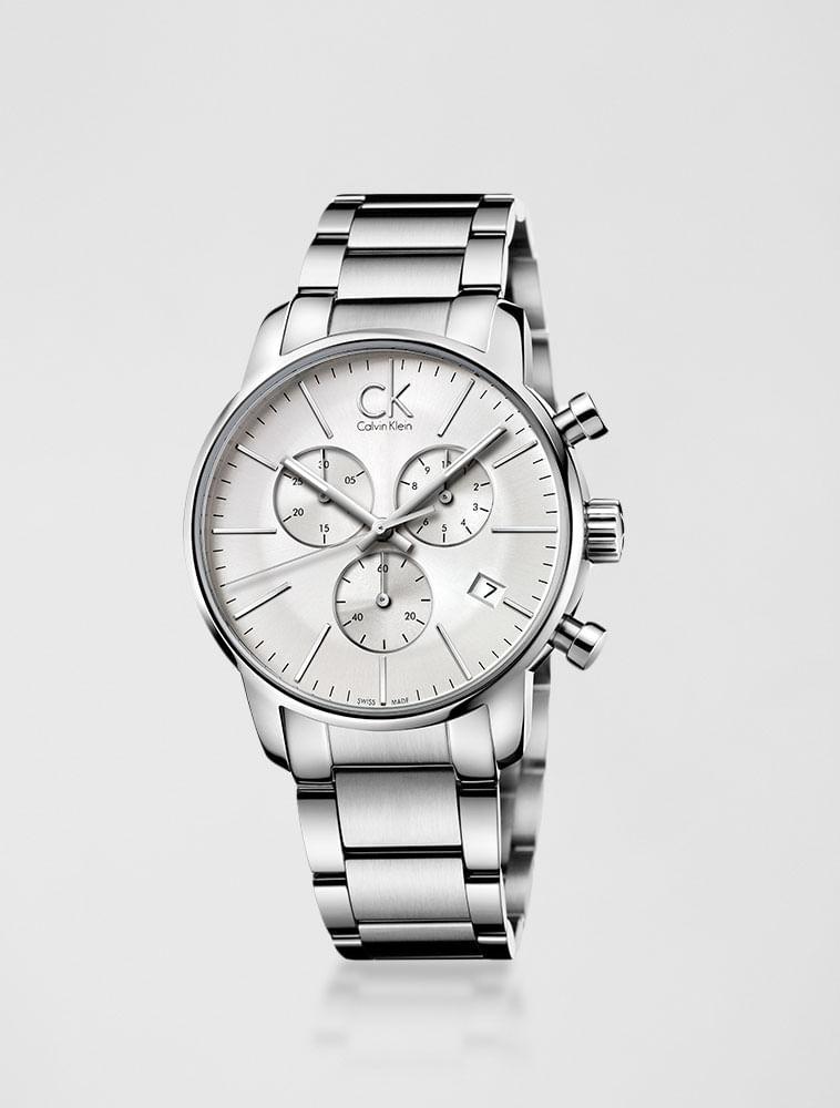 Relógio Calvin Klein Pulseira De Aço Prata - Calvin Klein a87e6885e0