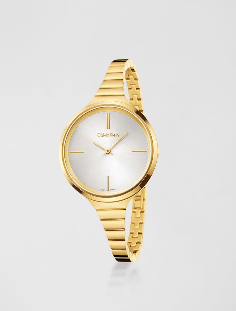 Relógio Calvin Klein Pulseira De Aço Dourado - Calvin Klein fee766e5a1