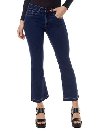 CALCA-CALVIN-KLEIN-JEANS-FIVE-POCKETS-CROPPED-FLARE-AZUL-MEDIO