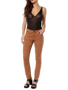 CALCA-COLOR-CALVIN-KLEIN-JEANS-FIVE-POCKETS-JEGGING-HIGH-CAQUI-ESCURO