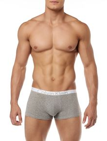 CUECA-LOW-RISE-TRUNK-CALVIN-KLEIN-UNDERWEAR-ID-COTTON-BRANCO-COM-CINZA