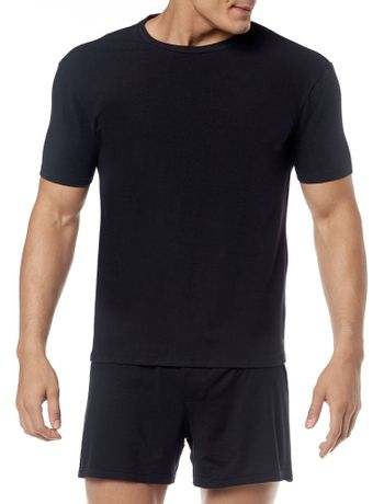 KIT-2-CAMISETAS-CALVIN-KLEIN-UNDERWEAR-DE-COTTON-GOLA-CARECA-PRETO