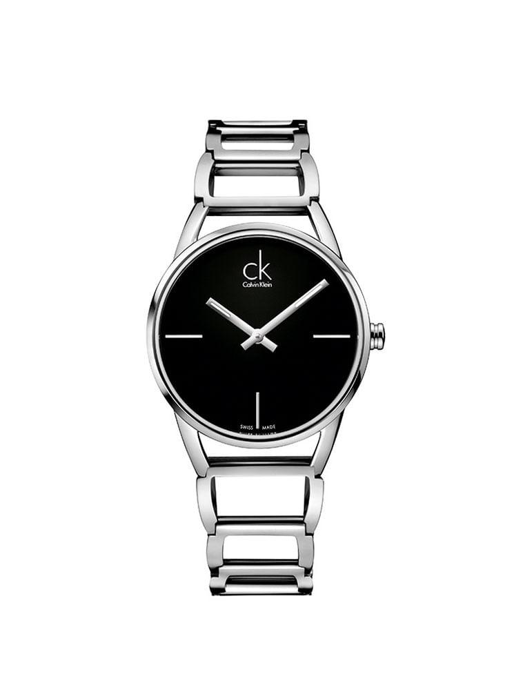 5ce6111fb Relógio Calvin Klein Com Pulseira De Aço Prata - Calvin Klein