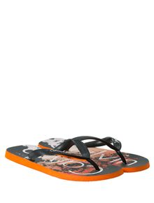 CHINELO-CALVIN-KLEIN-SWIMWEAR-BLACK-FRAGMENTS-LARANJA