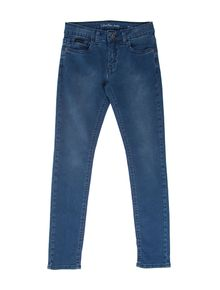 CALCA-CALVIN-KLEIN-JEANS-FIVE-POCKETS-Y-AZUL-MEDIO