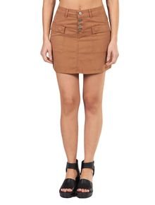 Saia-Calvin-Klein-Jeans-Com-Vista-De-Botoes-Camurca