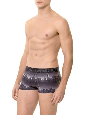 CUECA-LOW-RISE-TRUNK-CALVIN-KLEIN-UNDERWEAR-PERFORMANCE-LOGO-CINZA-MEDIO