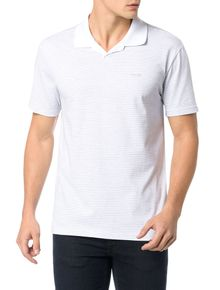 POLO-CALVIN-KLEIN-REGULAR-LISTRADA-COM-MINI-VISTA-BRANCO