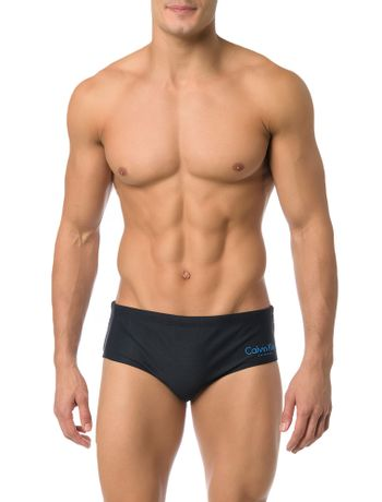 SUNGA-CALVIN-KLEIN-SWIMWEAR-BRIEF-LOGO-PRETO