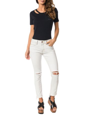 CALCA-CALVIN-KLEIN-JEANS-FIVE-POCKETS-SKINNY-HIGH-OFF-WHITE