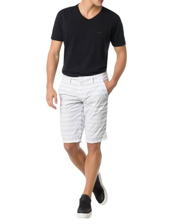 BERMUDA-COLOR-CALVIN-KLEIN-JEANS-FIVE-POCKETS-LISTRADA-BRANCO