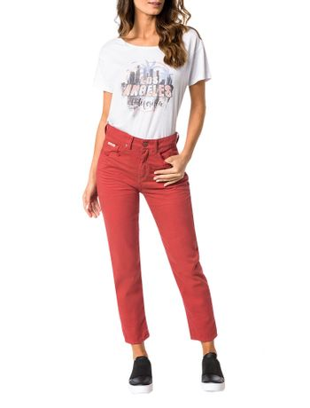 CALCA-COLOR-CALVIN-KLEIN-JEANS-FIVE-POCKETS-MOM-VERMELHO