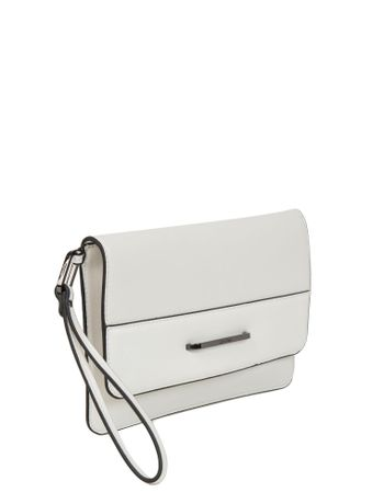 BOLSA-CALVIN-KLEIN-HEATHER-CLUTCH-BRANCO