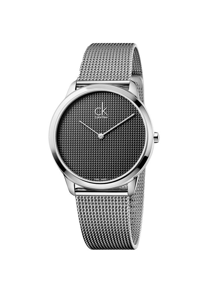 67059c20cd8 Relógio Calvin Klein Cinza Com Pulseira De Aço - Calvin Klein
