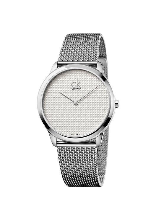 0f272506a Relógio Calvin Klein Prata Com Pulseira De Aço - Calvin Klein
