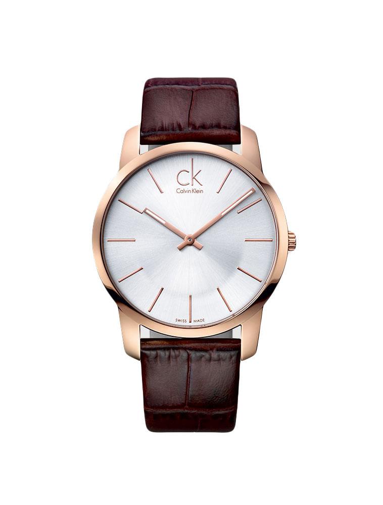 cb67bbe4c94 Relógio Calvin Klein Pulseira Couro Marrom - Calvin Klein