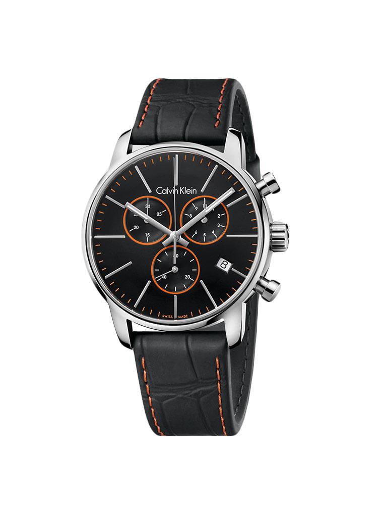 7ef1955ae52 Relógio Calvin Klein Pulseira Couro Preto - Calvin Klein