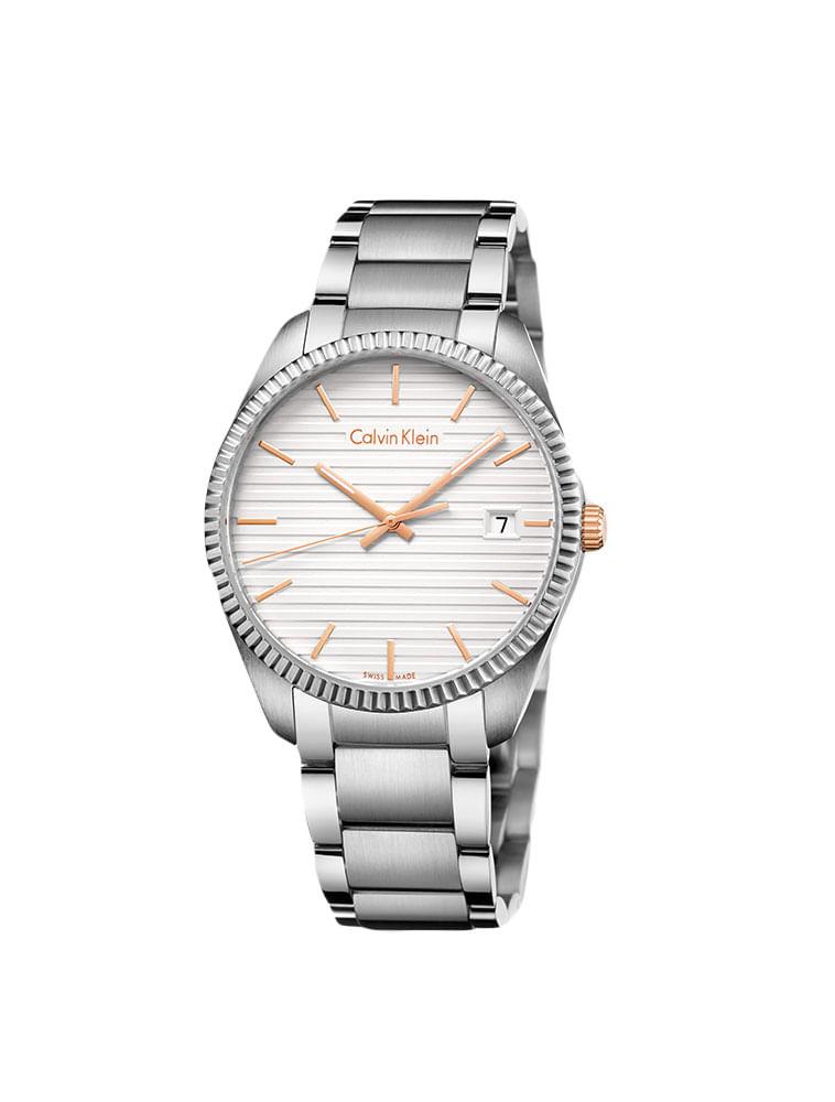 655f332e594 Relógio Calvin Klein Pulseira De Aço Prata - Calvin Klein