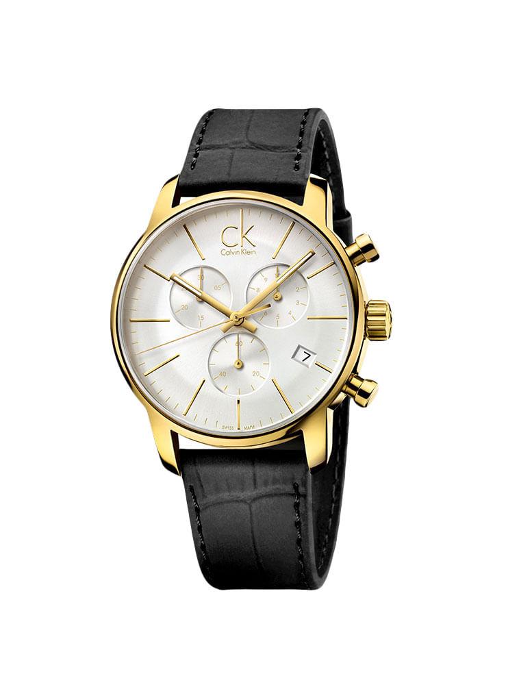 4df36296515 Relógio Calvin Klein Pulseira De Couro Preto - Calvin Klein