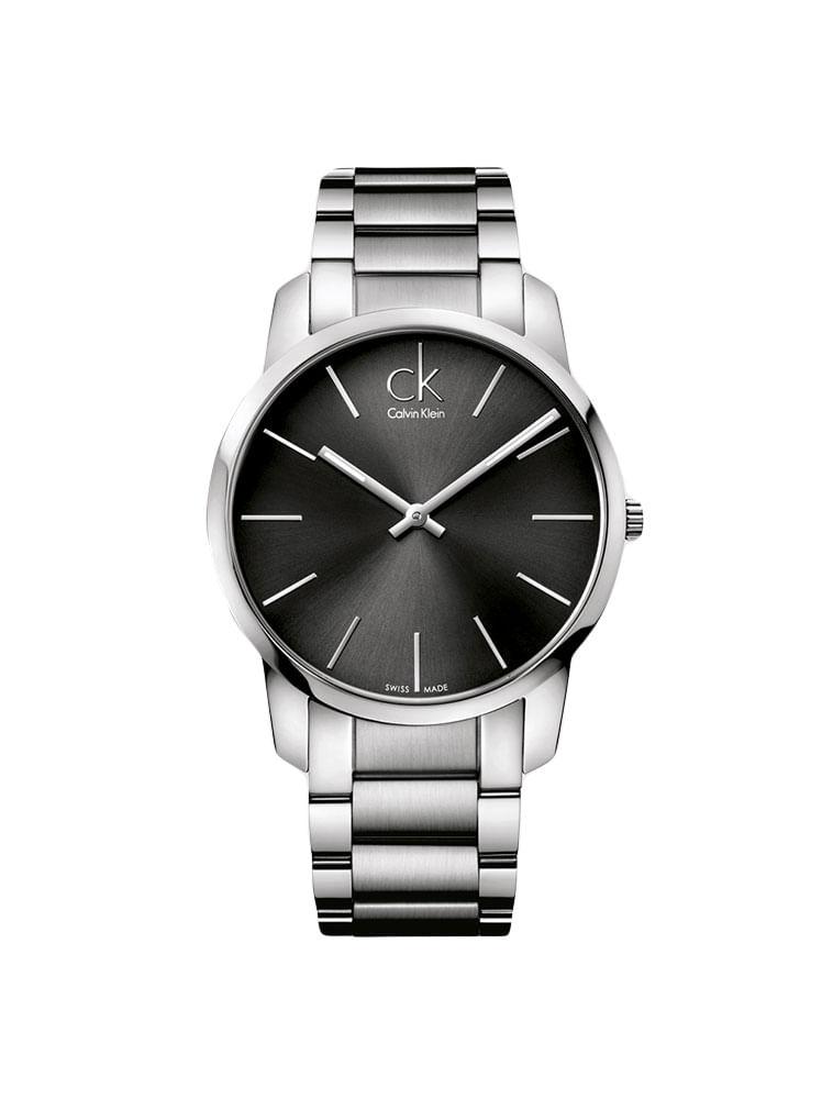 c1613f946be Relógio Calvin Klein Preto Com Pulseira De Aço - Calvin Klein