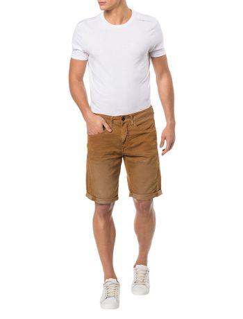 BERMUDA-COLOR-CALVIN-KLEIN-JEANS-FIVE-POCKETS-HAVANA