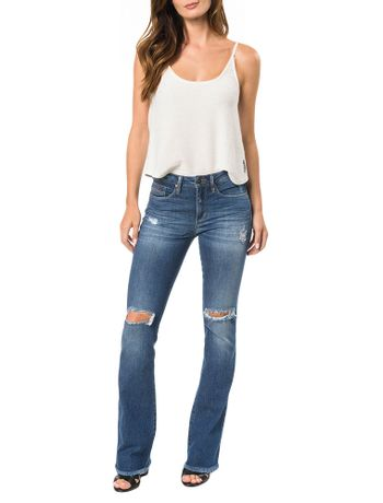 CALCA-CALVIN-KLEIN-JEANS-FIVE-POCKETS-SLIM-FLARE-AZUL-MEDIO