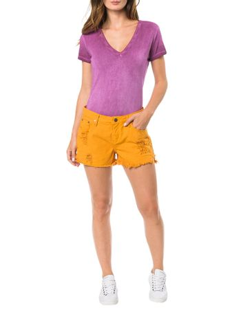 SHORTS-COLOR-CALVIN-KLEIN-JEANS-FIVE-POCKETS-MOSTARDA