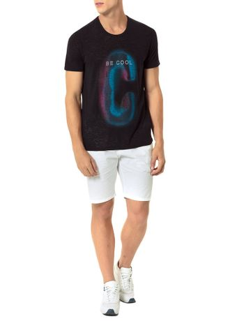 CAMISETA-CALVIN-KLEIN-JEANS-ESTAMPA-BE-COOL-PRETO