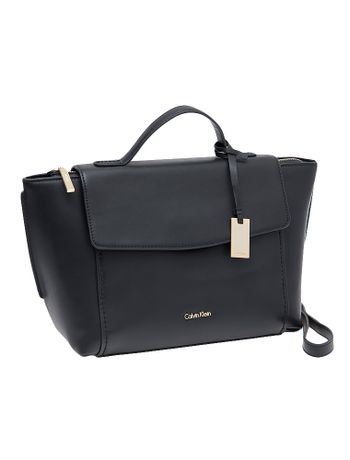 Bolsa-Calvin-Klein-Com-Couro-Chrissy-Top-Handle-Preto