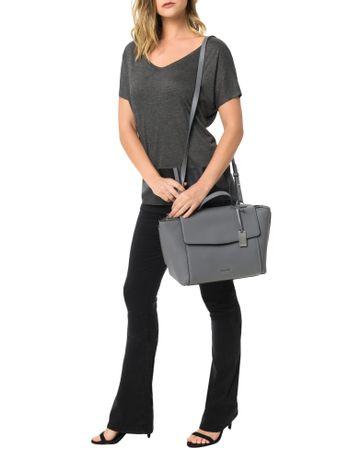 Bolsa-Calvin-Klein-Com-Couro-Chrissy-Top-Handle-Cinza-Medio
