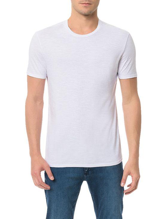 Camiseta-Slim-Calvin-Klein-Basica-Flame-Branco